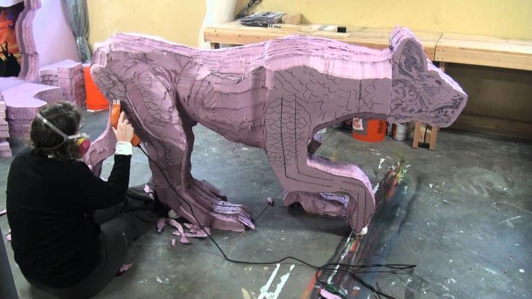 Скульптор по пенопласту