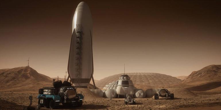 Ракета на Марсе