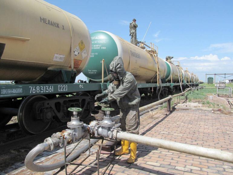 Заправка ракетного топлива