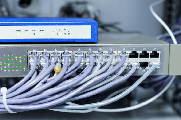 сетевой коммутатор для настройки сетевого соединения