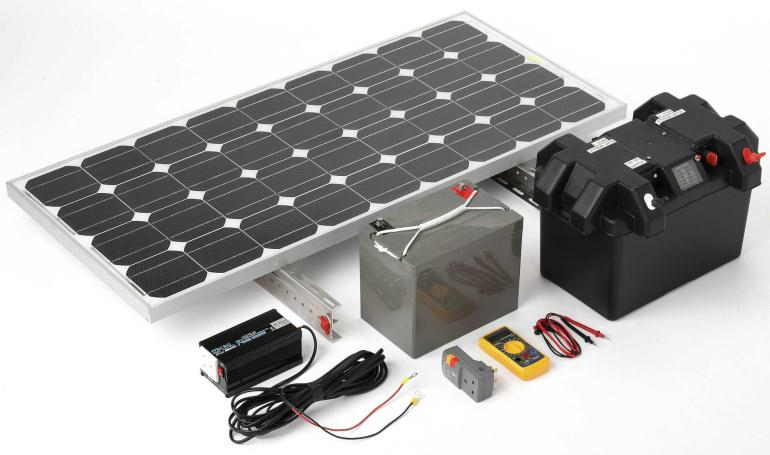 Небольшая солнечная электростанция